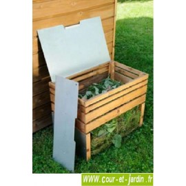 Composteur 200 L en bois et métal