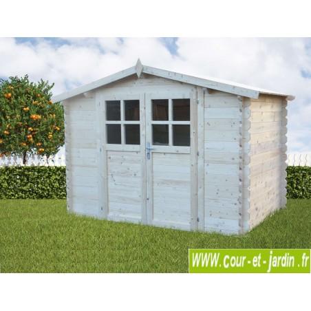 Abri de jardin AZUR 3x2 en bois ép.28mm