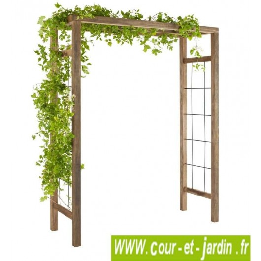 pergola de jardin ikebana en bois d corative. Black Bedroom Furniture Sets. Home Design Ideas
