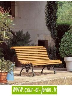 Banc pour jardin fonte et bois pas cher ancien bancs for Banc jardin fonte