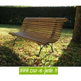 """Banc de jardin en fonte """"Campos"""" et lattes en pin (150cm) . Banc bois jardin"""
