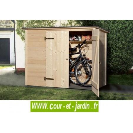 Coffre de rangement en bois pour vélos (205 x 87 cm)
