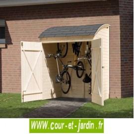 Armoire de jardin en bois ou garage à vélos (160 x 134 cm)