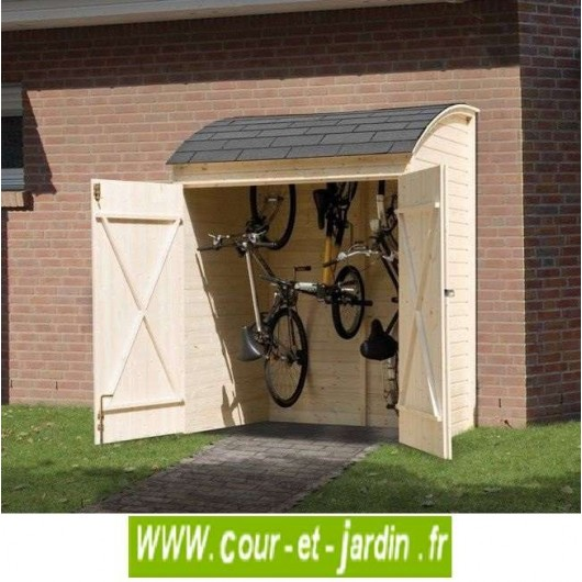 armoire de jardin en bois ou garage v los 160 x 134 cm. Black Bedroom Furniture Sets. Home Design Ideas
