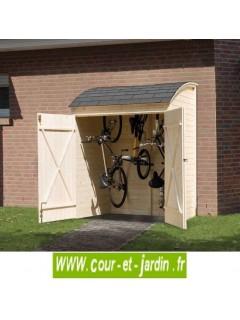 Armoire de jardin en bois - Abri vélo ou armoire de rangement (160 x 134 cm)