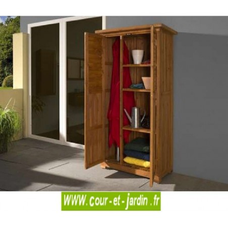armoire de balcon haute de jardin bois meuble. Black Bedroom Furniture Sets. Home Design Ideas