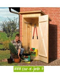 Armoire de jardin en bois FLACHDACH abri 83x85 cm une porte