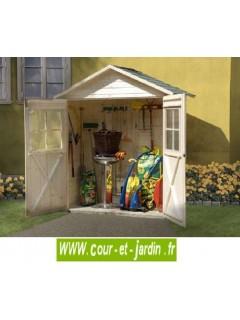 Abri de jardin satteldach en bois armoire de 163 x 87 cm 2 portes - Abri jardin en dur saint etienne ...
