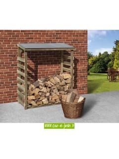 Abri bûches 1 stère - réserve à bois traité