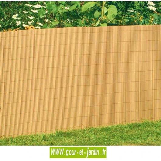 Canisses PVC double face bambou ht 150cm  rouleau de 3ml