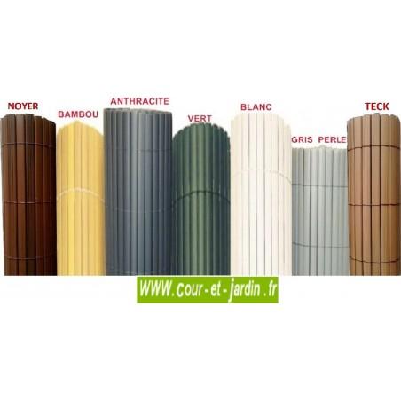 canisses pvc double face vert ht 120cm rouleau de 3 ml. Black Bedroom Furniture Sets. Home Design Ideas