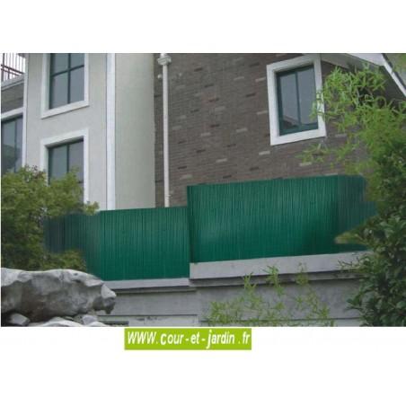 Canisses PVC vert double face ht 180cm rouleau de 3ml