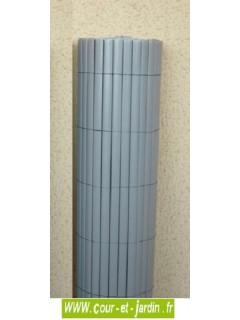 Canisses PVC double face Gris Perle  ht 120cm  rouleau de 3ml