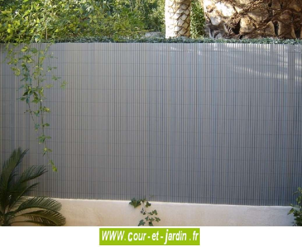 Bon Canisses PVC Double Face Gris Perle Ht 120cm Rouleau De 3ml   Cour Et Jardin