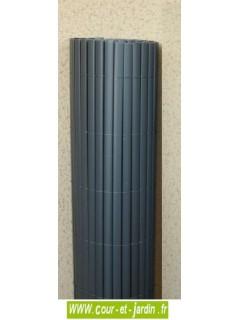 Canisses PVC double face anthracite ht 120cm  rouleau de 3ml