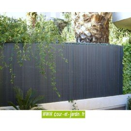Canisses PVC double face anthracite ht 120cm  rouleau de 3ml