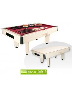 BILLARD ARLEQUIN  pool et snooker 3 en 1, convertible en billard table à manger