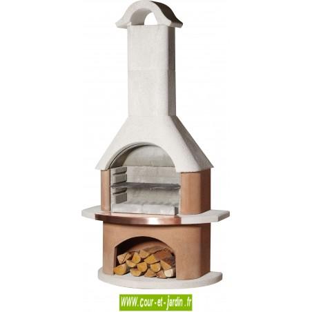 BARBECUE en pierre Bologna - Ce Barbecue moderne de buschbeck est un barbecue maçonné avec du ciment colle