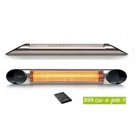 Chauffage infrarouge de terrasse Veito OPTIMA 2500 argent à télécommande