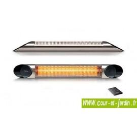 Chauffage infrarouge Veito BLADE 2000w argent à télécommande