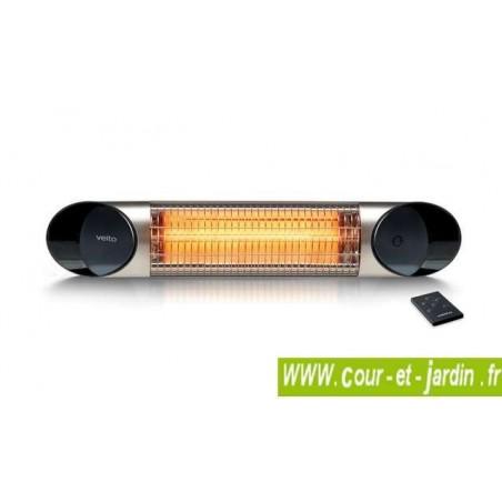 Chauffage infrarouge Veito BLADE MINI 1200w argent à télécommande