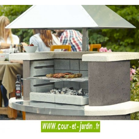 barbecue fixe b ton exterieur pas cher barbecues pierre de jardin. Black Bedroom Furniture Sets. Home Design Ideas