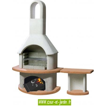 barbecue fixe b ton en dur ext rieur chemin e barbecues en kit. Black Bedroom Furniture Sets. Home Design Ideas