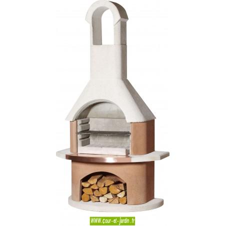 Barbecue exterieur en pierre ou béton Toscane. Ce barbecue pierre ou béton de Buschbeck est un barbecue fixe livré en kit