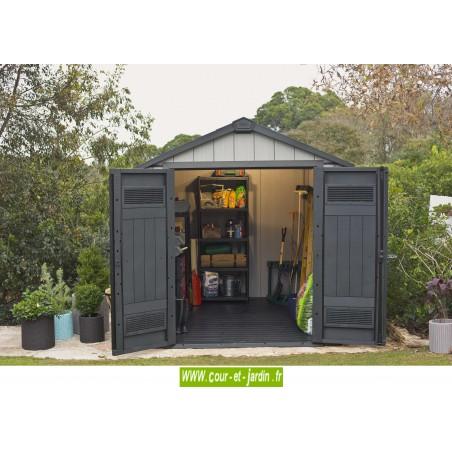 abri de jardin en r sine brossium 757 de keter. Black Bedroom Furniture Sets. Home Design Ideas