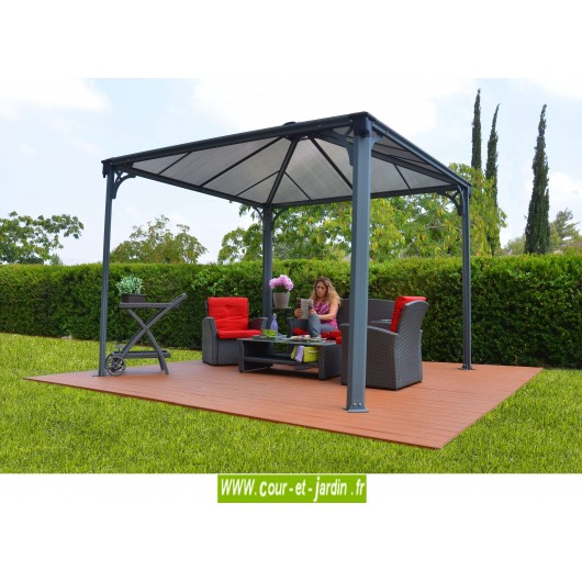 tonnelle alu 3x3 couv 39 terrasse tonnelle terrasse aluminium. Black Bedroom Furniture Sets. Home Design Ideas