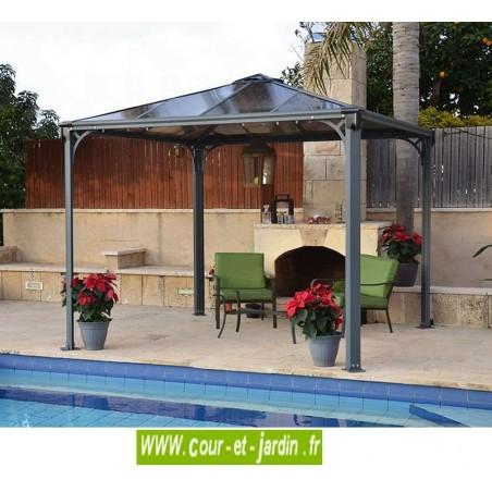 Tonnelle pour terrasse Couv'Terrasse 300x300 - tonnelle en kit - pergola en alu