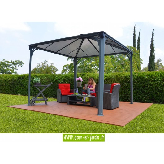 tonnelle alu couv 39 terrasse tonnelle de jardin de 3 6m x 3 6m. Black Bedroom Furniture Sets. Home Design Ideas
