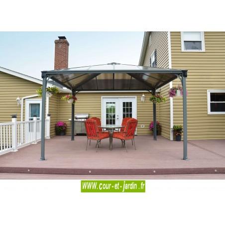 tonnelle alu couv 39 terrasse tonnelle de jardin de 3 6x3 6 autoport e. Black Bedroom Furniture Sets. Home Design Ideas