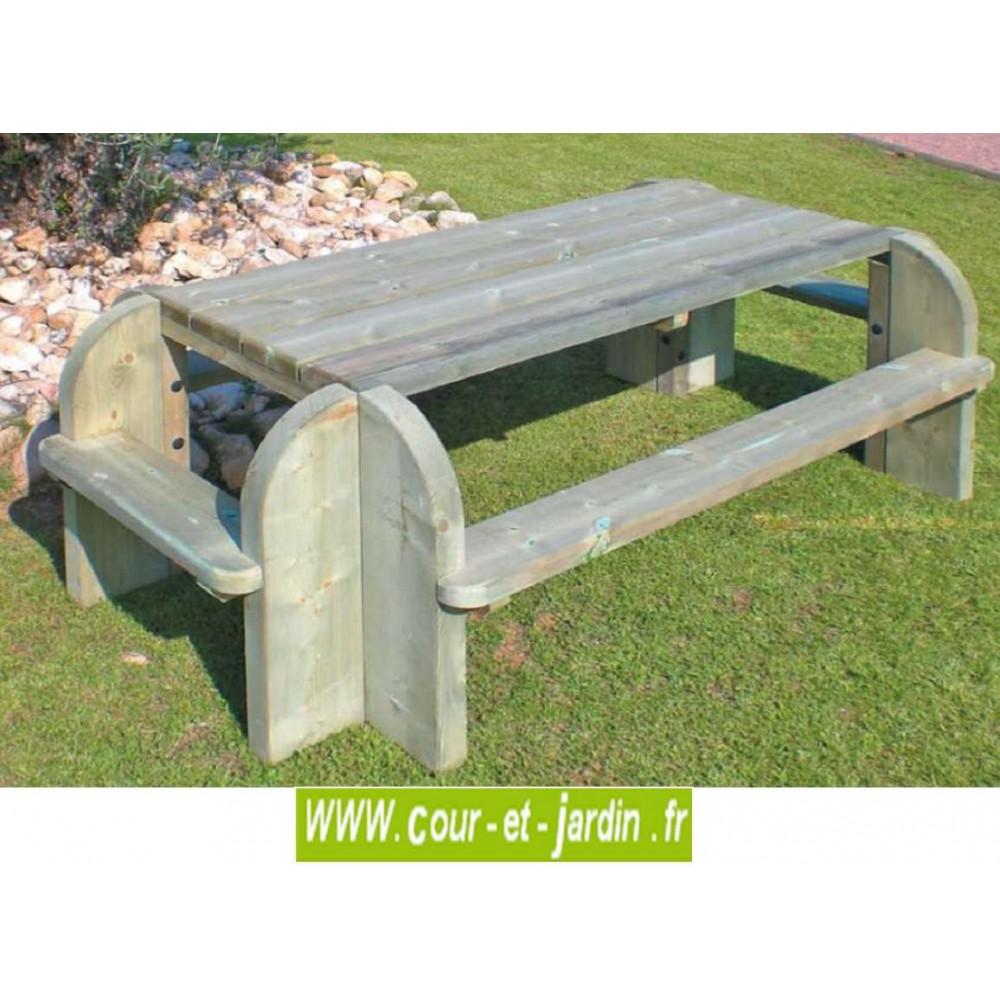 table pique nique bois tables jardin pique nique. Black Bedroom Furniture Sets. Home Design Ideas