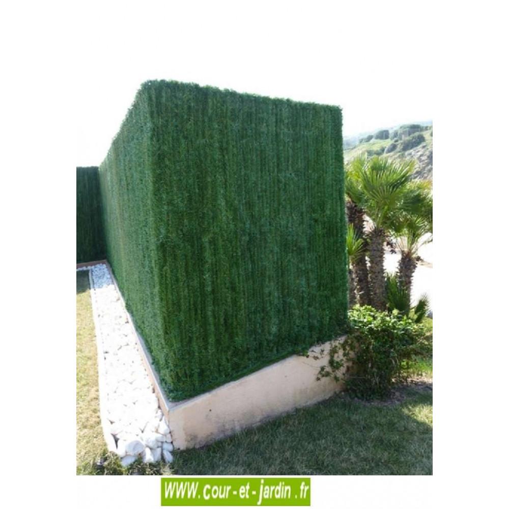 Haie artificielle pas cher, hauteur 1m, acheter une cloture pour jardin