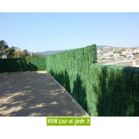 Haie végétale artificielle 110 brins, ht 1m20 x 3ml, haie synthétique