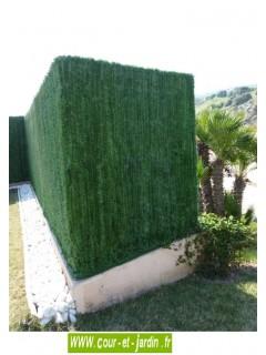 Haie végétale artificielle 110 brins rouleau de 3ml  ht 180cm
