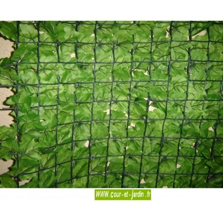 Haie artificielle feuilles de Lierre  côté verso