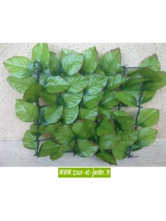 Haie artificielle feuilles de Rosier côté recto