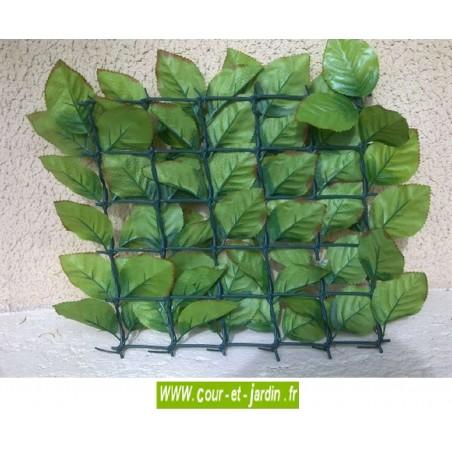 Haie artificielle feuilles de Rosier côté verso