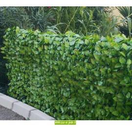 Haie artificielle feuilles de Rosier ht 150cm (x3ml) simple face