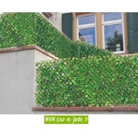 Treillis extensible feuilles de rosier simple face (1m x 2ml)