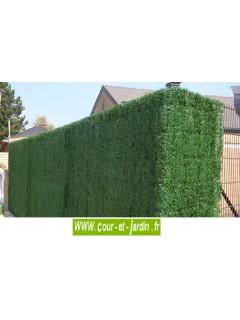 Brise vue imitation haie végétale ht 180cm x 3ml (144 brins)