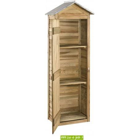 Armoire de jardin ERRA en bois porte ouverte - Abri de jardin