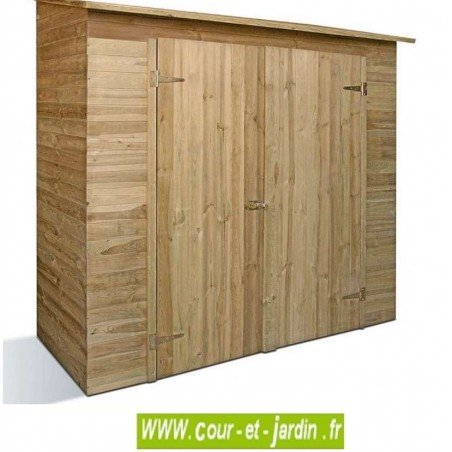 armoire de jardin en bois savona abri bois de 200 x 100cm. Black Bedroom Furniture Sets. Home Design Ideas