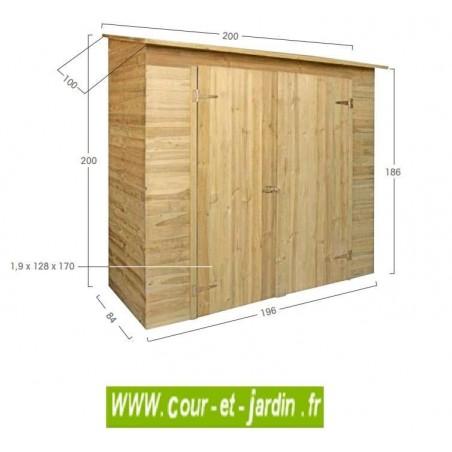 Armoire de jardin SAVONA dimensions