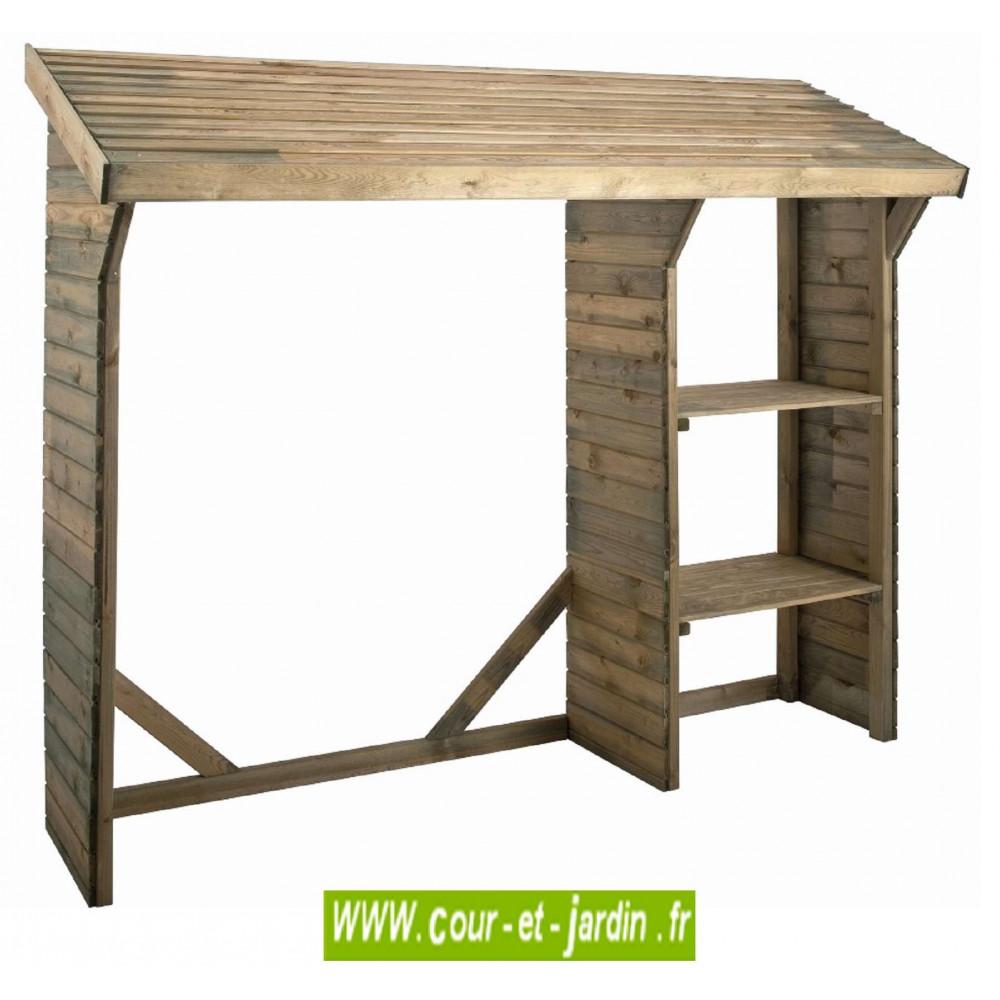 abri bois de chauffage split en bois stockage 1 st re. Black Bedroom Furniture Sets. Home Design Ideas