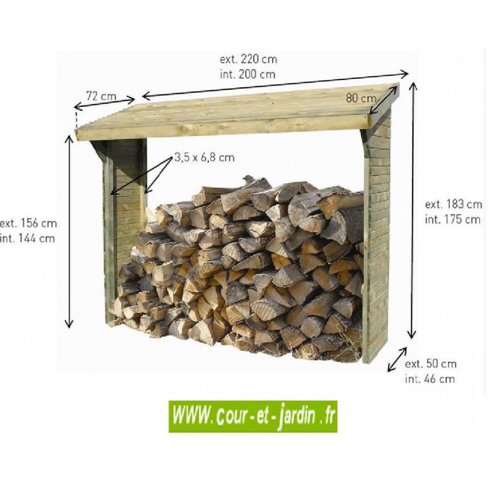 151d43e87ef ... Dimensions de ce Range bûche Olbia. Ce range bois extérieur ou abri  buches pas cher