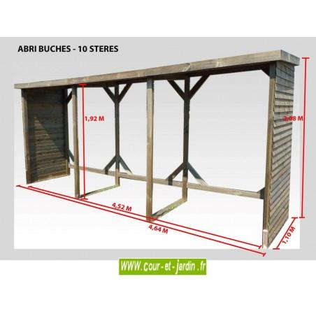 abri b ches mural abri bois de chauffage range buches. Black Bedroom Furniture Sets. Home Design Ideas