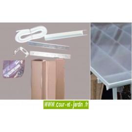 Connecteur pour toit Feria Couv'Terrasse blanc ou gris
